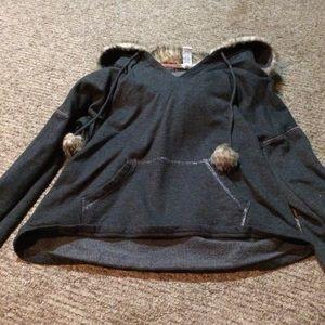 Alfani Intimates fuzzy hoodie.  Sz XS
